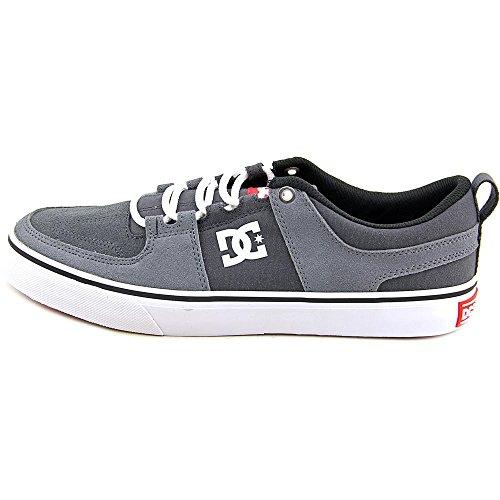 DC Lynx Vulc Unisex Skate Shoe, Grey/Grey/Red, 9 M US