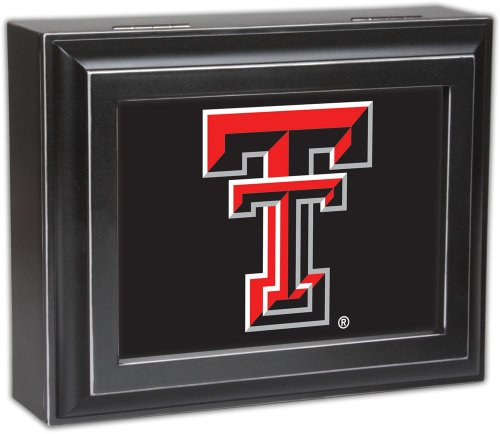 Collegiate Digital Music Jewelry Box Finish: Distressed Black, Ncaa Team: Texas Tech University