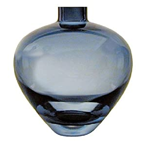 Thomas O'Brien Crystal Tiago Blue Teardrop Vase