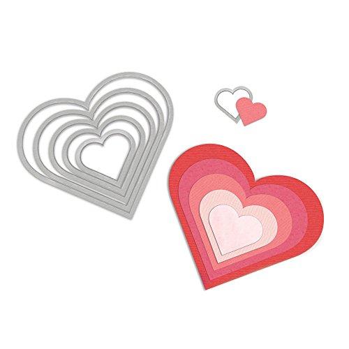 Sizzix Framelits Die Set 6Pk - Hearts