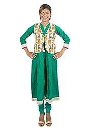 Kandida Madhubani Print Anarkali 3/4th Sleeves Cotton Kurta