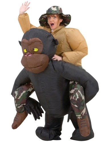Saving for Inflatable Riding Gorilla Adult Costume Adult Mens CostumeInflatable Centaur Costume