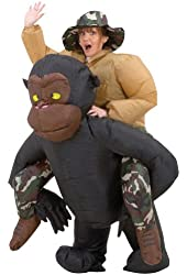 Inflatable Riding Gorilla Adult Costume Adult Mens Costume