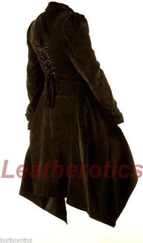 Ladies Coat Gothic Jacket Vintage Corduroy Costume Victorian Flock Steampunk STP05 (XLarge)
