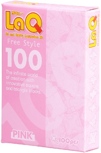 Pink Laq Puzzle Bits- 100 Free Style Pieces! Fun! -Affordable Gift for your Little One! Item #DLAQ-000460 - 1
