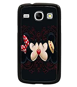 PrintDhaba Mickey and Minnie D-2396 Back Case Cover for SAMSUNG GALAXY CORE i8262 (Multi-Coloured)