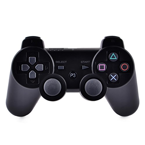 Durable Wireless Bluetooth Controller for PS3 - Black