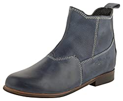 willywinkies Kids Blue Leather Chelsea Boots - 30