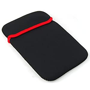 TRIXES Reversible Black Red Cover Case Pouch for the Kobo Wireless Reader