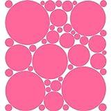 Flirt Pink Polka Dot Peel & Stick Wall Pops Stickers