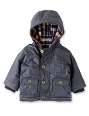 Autograph Pure Cotton Hooded Waxed Jacket