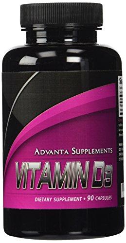 Advanta Supplements Vitamin D3 5,000 IU, 90 Capsules