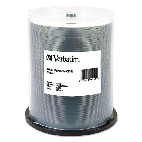 verbatim-700mb-52x-80-minute-white-inkjet-printable-recordable-disc-cd-r-100-disc-spindle-95251