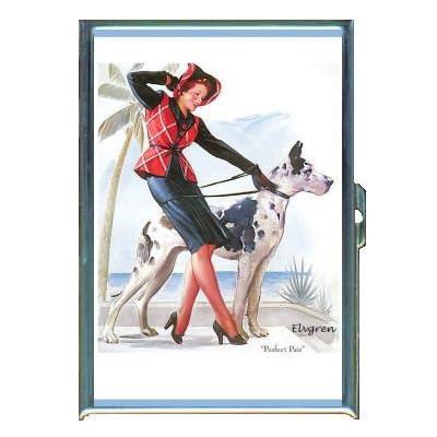 Amazon.com : PIN UP GIRL HARLEQUIN GREAT DANE DOG ID Holder, Cigarette