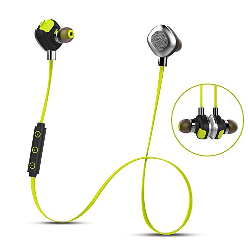 Morul U5PLUS Bluetooth Headphones Magnetic Wireless Earbuds Waterproof Headphones, Sweatproof In-Ear Noise Cancelling sport Headset for Running Workout Gym- Sports Earphones with Mic -Yellow (One Day Sale On Electronic compare prices)