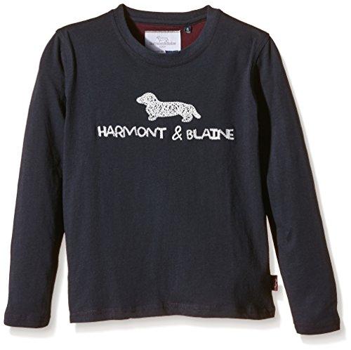 Harmont & Blaine Junior - T-Shirt Jersey Ricamo, Bambino, Blu (Blu), 6 anni