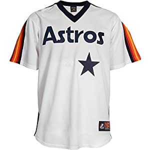 Majestic Athletic Houston Astros Blank Replica Cooperstown Home Jersey by Majestic Athletic