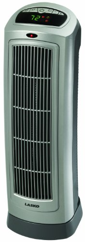 Lasko 755320 Ceramic Pagoda Heater with Digital Display and Remote Control