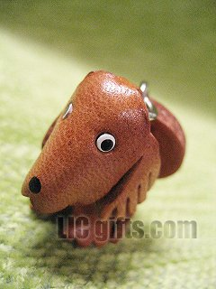 * GOLDEN RETRIEVER * VANCA Craft 3D Petit Mini Mascot Leather Dog Cell Phone Charms