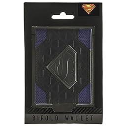 Superman Logo Mixed Material Bi-Fold Gift Boxed Wallet