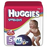 Huggies Baby Diapers Snug Dry Size 5 Over
