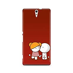 Motivatebox - Sony Xperia C5 Back Cover - couple Polycarbonate 3D Hard case protective back cover. Premium Quality designer Printed 3D Matte finish hard case back cover.