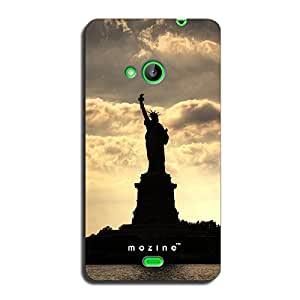 Mozine Statue Of Liberty printed mobile back cover for Nokia lumia 535