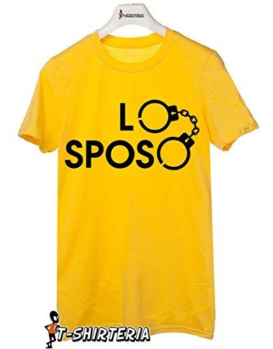 t-shirt Addio al celibato - Lo Sposo, manette - tutte le taglie uomo donna maglietta by tshirteria