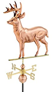 Good Directions 638P Standing Deer Weathervane, Polished Copper