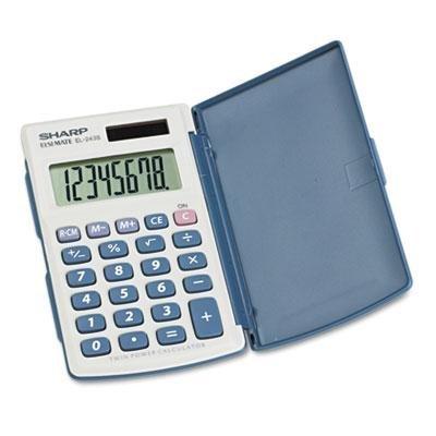 Sharp El-243Sb Solar Pocket Calculator, 8-Digit Lcd, Case of