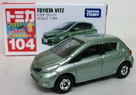 Takara Tomy 104 Toyota Vitz Scale 1:64 Toy Model - 1