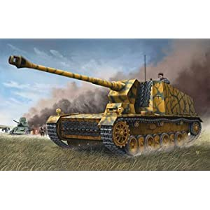 German 12.8cm Tank Destroyer L-61 Sturer Emil Selbstfahrlafette Model Kit by Trumpeter
