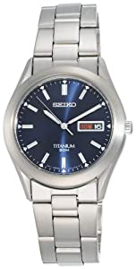 Seiko Men&#39;s SGG709 Titanium Case and Bracelet Watch