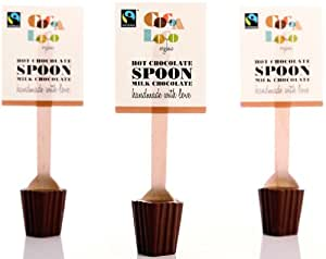 Cocoa Loco Organic Fairtrade Milk Chocolate Spoons 30 g (Pack of 6)