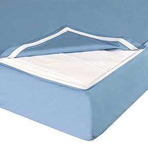 QuickZip Crib Sheet Set, Blue