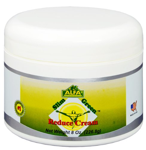 Slim Green Reduce Cream 8 Oz - Body Fat Reducer - Get Slimming - Support for Weight Loss