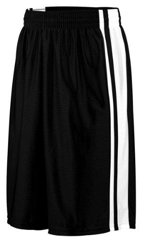 Augusta Striped Dazzle Short (Black_White) (2X)