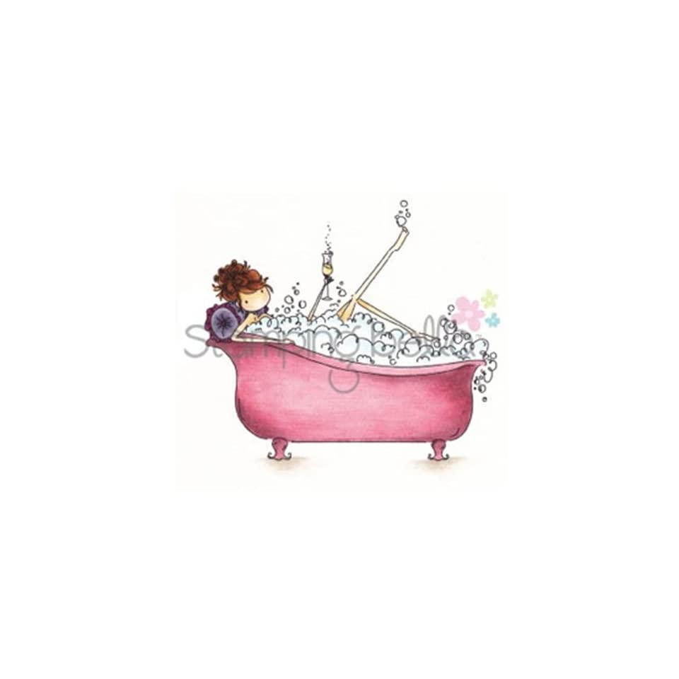 6.5 x 4.5 Stamping Bella Uptown Girl Bubbles Loves Her Bubbly Cling Rubber Stamp