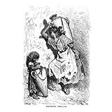 Grabado antiguo (1862) - Grabado al acero - Jovenes Valencianas (15.5x23), Pannemaker