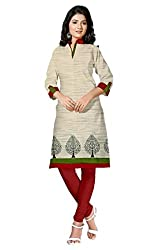 Riddhi Dresses Women's Cotton Unstitched kurti (Riddhi Dresses 48_Multi Coloured_Free Size)