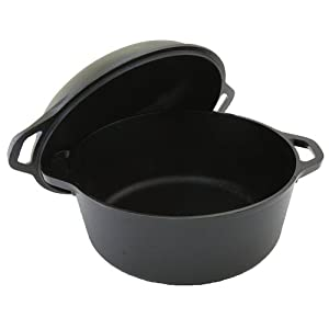 Lodge Logic 5-Quart Double Dutch Oven and Casserole with Skillet Cover