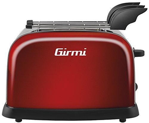 Girmi TP55 - Tostapane, colore: rosso, potenza: 800 W, timer