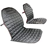 Gaorui 12v Universal Car Seat Heater Winter Household Cushion Warmer 2pcs - Black