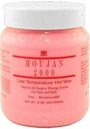 Moujan 2000 Low Temperature Hot Wax for Face and Body ( Microwavable Jar ) 343g/12oz