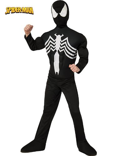 Rubie's Marvel Ultimate Spider-Man/Venom Deluxe Muscle Chest Black Costume