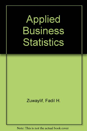 Applied Business Statistics