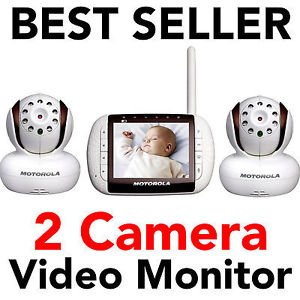 motorola mbp36 2 new digital video baby monitor set with 2 twin double camera. Black Bedroom Furniture Sets. Home Design Ideas