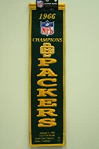 1966 Green Bay Packers NFL Champions Heritage Banner