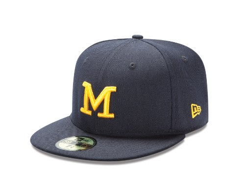 NCAA Michigan Wolverines College 59Fifty, Navy, 7 1/2