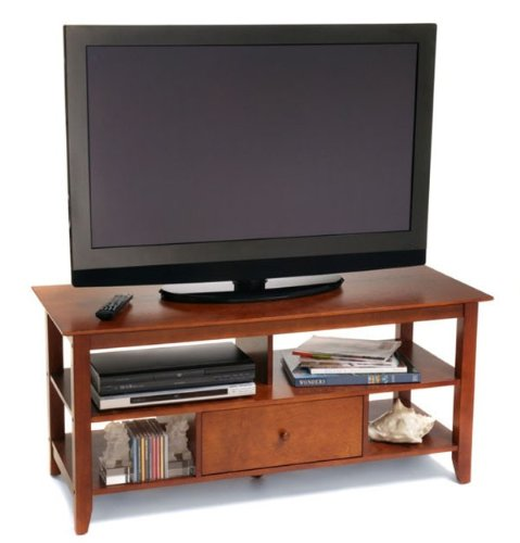 Convenience Concepts 7123179 American Heritage TV Stand, Cherry for Flat Panel TV's up to 50-Inch or 100-Pounds